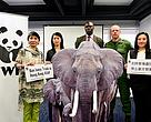 (From the left to the right) Claudia Mo, Legislator; Cheryl Lo, Senior Wildlife Crime Officer, WWF-Hong Kong; Josias Mungabwa, Wildlife Crime Investigator; Erik Mararv,  African Ranger​; Elizabeth Quat, ​Legislator.