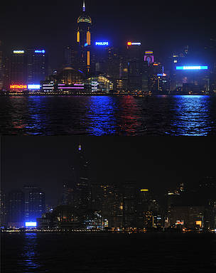 Earth Hour lights off  	© WWF-Hong Kong