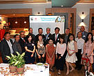 (Right 3 of 2nd row) Mr Peter Cornthwaite, CEO of WWF-Hong Kong,  (Right 5 of 2nd row)) Mr Philip Mok,  Trustee and Executive Council Member of WWF-Hong Kong,  (Right 6 of 2nd row) Mr Bernard Kong, President of Hong Kong Society of Medical Professionals together with commitees member from Hong Kong Soceity of Medical Professionals.