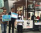 WWF's 100% solar-powered mobile café was officially unveiled
