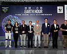 All officiating guests pressed the light off button on stage to officially kick off the Earth Hour 2019 light off ceremony.