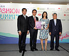 "Mr. Hon Felix Chung Kwok-pan, Legislative Councilors (Functional Constituency - Textiles and Garment) (Left 1), Mr. Hui Feng Zhang, Head of Corporate Sustainability, Asia Pacific, HSBC (Left 2), Ms. Karen Ho, WWF-HK's Head of Corporate and Community Sustainability (Right 2) and Mr. Yeung Fan, President of The Federation of Hong Kong Garment Manufacturers (Right 1) present the""Making Zero Impact Fashionable""project begins."