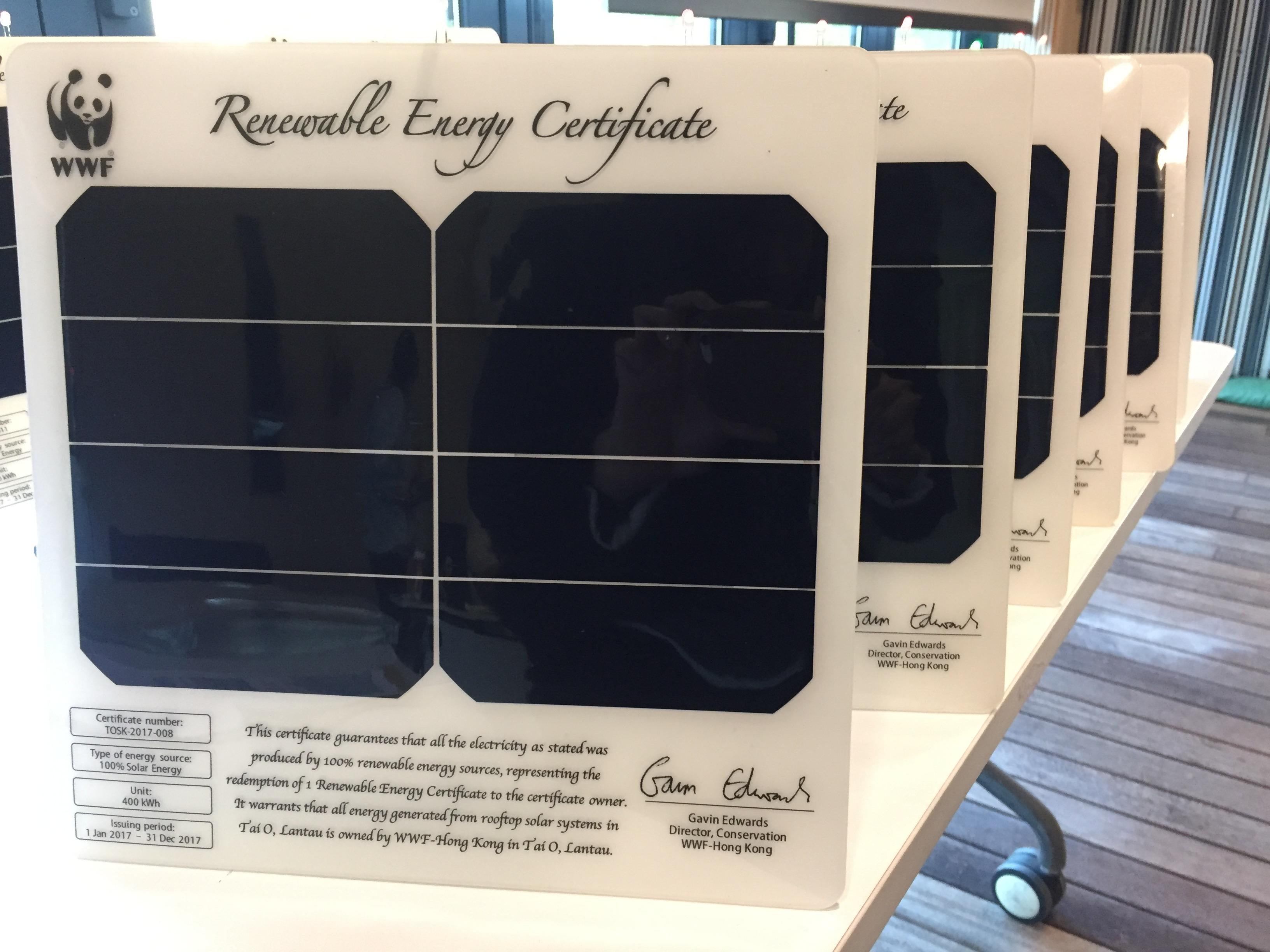 Launching hong kongs first renewable energy certificate wwf enlarge xflitez Gallery